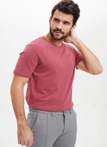 DeFacto Basic Kısa Kollu T-Shirt Bordo